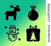 vector icon set about christmas ... | Shutterstock .eps vector #1110929408
