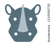 rhinoceros or rhino | Shutterstock .eps vector #1110930710