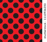 seamless red and black dot... | Shutterstock .eps vector #1110936350