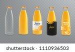orange juice bottle mockup.... | Shutterstock .eps vector #1110936503