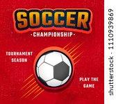 soccer championship banner or...   Shutterstock .eps vector #1110939869