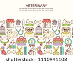 line style bright colored... | Shutterstock .eps vector #1110941108