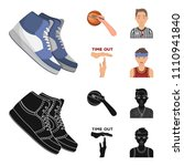 basketball and attributes... | Shutterstock . vector #1110941840