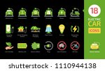 electric vehicle color icon set ... | Shutterstock .eps vector #1110944138