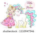 hand drawn beautiful cute... | Shutterstock .eps vector #1110947546