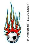 vector illustration of burning...   Shutterstock .eps vector #1110952094
