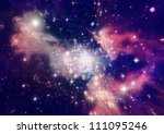 stars of a planet and galaxy in ... | Shutterstock . vector #111095246