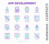 app development thin line icons ... | Shutterstock .eps vector #1110953273