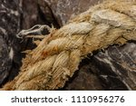 old ropes on old rusty ship... | Shutterstock . vector #1110956276
