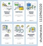 vector set of mobile app... | Shutterstock .eps vector #1110963320