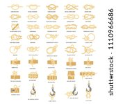 nautical knot icon set. sailing ... | Shutterstock .eps vector #1110966686