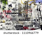 paris  france. vintage... | Shutterstock . vector #1110966779