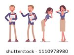 male and female office...   Shutterstock .eps vector #1110978980