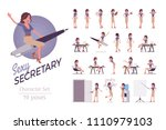 female office sexy secretary... | Shutterstock .eps vector #1110979103