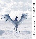 boy riding the dragon 3d...   Shutterstock . vector #1110980180