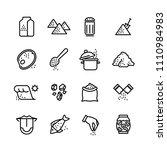 salt line icons set.... | Shutterstock . vector #1110984983