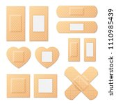 adhesive bandage elastic... | Shutterstock . vector #1110985439