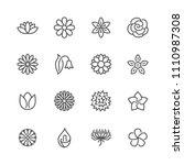 flowers flat line icons....   Shutterstock .eps vector #1110987308