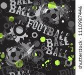 abstract seamless football...   Shutterstock .eps vector #1110987446