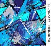 grunge geometric pattern for... | Shutterstock .eps vector #1110987449