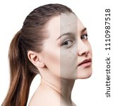 layer with bad skin unstick... | Shutterstock . vector #1110987518