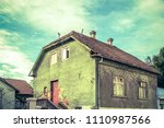 old neglected house exterior   Shutterstock . vector #1110987566