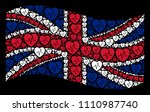 waving great britain official... | Shutterstock .eps vector #1110987740