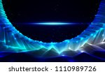 science fiction vector cosmic... | Shutterstock .eps vector #1110989726