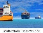 logistics import export...   Shutterstock . vector #1110993770