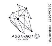 abstract vector 3d mesh... | Shutterstock .eps vector #1110997970