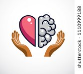 heart and brain concept ...   Shutterstock .eps vector #1110999188