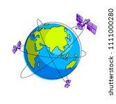 global communication technology ... | Shutterstock .eps vector #1111000280