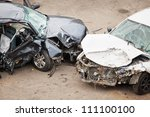 the image of crashed cars | Shutterstock . vector #111100100