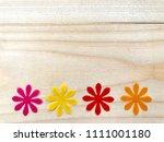 closeup a group of yellow... | Shutterstock . vector #1111001180