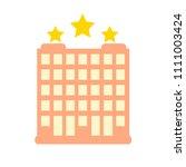 vector three stars hotel... | Shutterstock .eps vector #1111003424