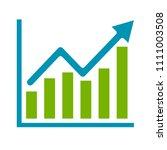 vector bar chart illustration ... | Shutterstock .eps vector #1111003508