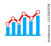 vector bar chart illustration ... | Shutterstock .eps vector #1111003538