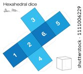 hexahedron template  hexahedral ... | Shutterstock .eps vector #1111006229