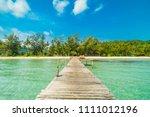 Wooden Pier Or Bridge With...