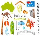 australia travel banner with... | Shutterstock .eps vector #1111013936