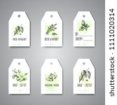 herbs and spices hanging tags.... | Shutterstock .eps vector #1111020314