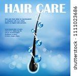 hair nourishing shampoo ads...   Shutterstock .eps vector #1111023686