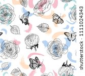 Seamless Pattern Of Wild Roses...