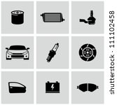 car parts icons set | Shutterstock .eps vector #111102458