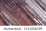 aerial. railway  railroad track.... | Shutterstock . vector #1111026239