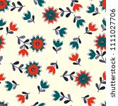 lovely seamless floral pattern... | Shutterstock . vector #1111027706