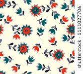 lovely seamless floral pattern... | Shutterstock . vector #1111027706