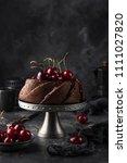 delicious chocolate bundt cake... | Shutterstock . vector #1111027820