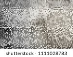 silver  gray square mosaic... | Shutterstock . vector #1111028783