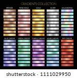 set of gold  silver  bronze ... | Shutterstock .eps vector #1111029950